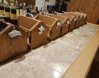 Wooden Beer Crate, Wood Beer Caddy, Beer Tote, Handmade Beer Six Pack Holder, Christmas Birthday Groomsman Gift