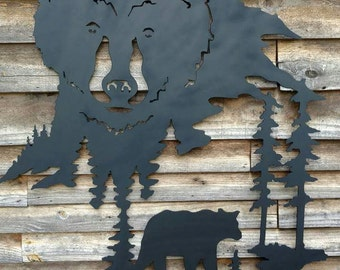 Metal wildlife wall art