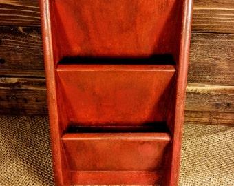 Wooden Mail Holder, Vintage Mail Holder