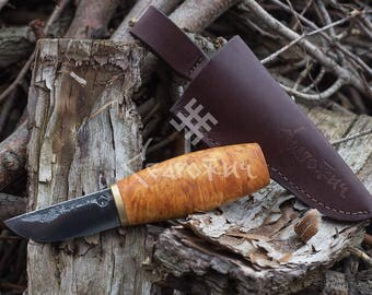 Hand Forged knife, High carbon steel knife, Finnish Knife,forged knife, Viking knife, scandinavian knife, hand crafted knife
