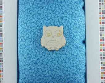 Owl wooden brooch - lasercut