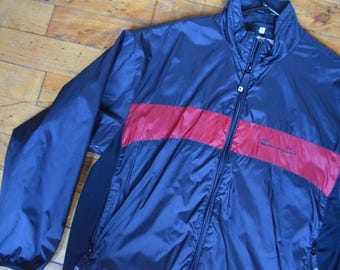 Vintage 90s Champion Spell-Out Zip-Up Jacket