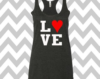 Love Valentine's Day Tank Top Valentines Day Clothing Exercise Tank Wine Tee Running Tank Top Cute Womens Gym Tank  Valentines Shirt