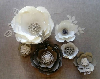 Mini Paper Flower Backdrop/Wall