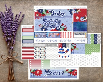 July 2017 Monthly Planner Sticker Kit / HAPPY PLANNER