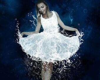 Water Dress Brush - Gardenia