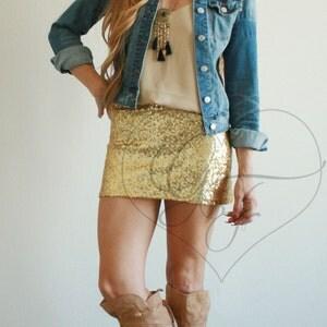 Black Sequin Mini Skirt - High Waist A-Line - Bachelorette ...