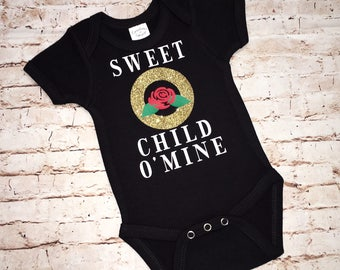Sweet Child O' Mine Onesie, Toddler T, Youth T - Black