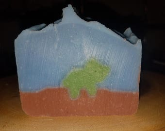 Lavender Dinosaur Soap