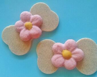 Pretty Flower Bones Dog Treats* Peanut Butter Cookies * Grain Free * Coconut Flour