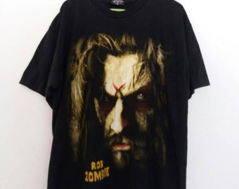 Reserved to Ms.Emma // Rare!! Rob Zombie big image double sided black mens t shirt / apocalypse x