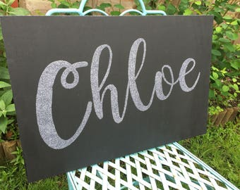 Large personalised name plaque