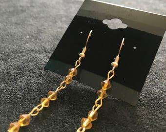 Yellow Dangle Earrings