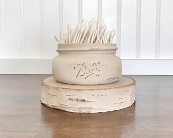 Painted Mason Jar, mason jar decor, mason jar bathroom storage, bulk mason jars