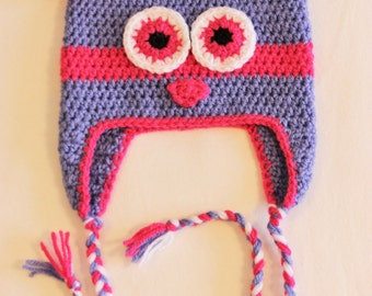 Little OWL purple and pink toque
