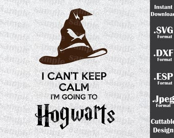 Harry Potter Inspired By Hogwarts Cutting Files in SVG, DXF, ESP and Jpeg Format for Cricut and Silhouette