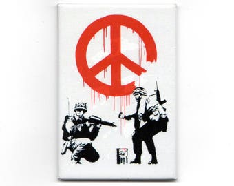 Banksy Magnet -  Peace