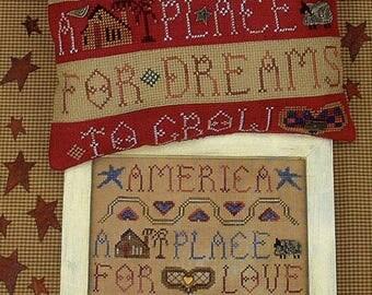 America by Homespun Elegance Counted Cross Stitch Pattern/Chart