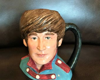JOHN LENNON Royal Doulton D6725  Toby Jug Mug Very RARE # 12/1000 Discountined Limted Edition 1984   50th Anniversary of Sgt Pepper
