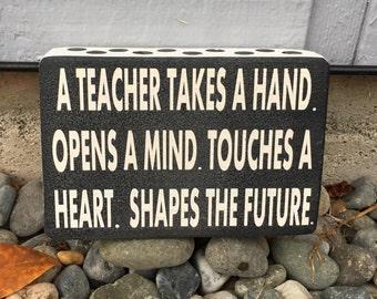 Teacher gift, teacher wood sign, tracher mini sign, gift for teacher