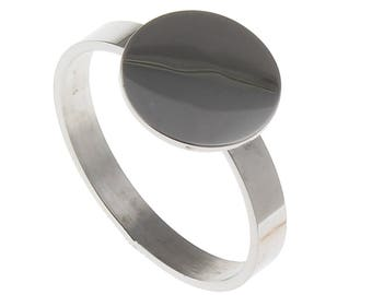 5 x Stainless steel solid blank ring