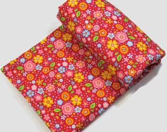 Cotton Fleece Baby Blanket - Toddler Blanket - Flower Bedding - Baby Girl Blanket - Organic Baby Bedding - Organic Cotton Baby - Tummy Time