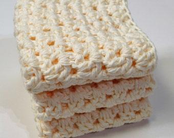 Crochet Dishcloths - Knit Washcloths - Crochet Wash Cloths - Cotton Washcloths - Cotton Dishcloths - Housewarming Gift - New Home Gift