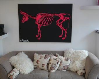 """Skeleton """"Street art"""""""