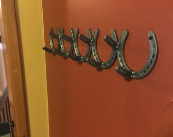 Horseshoe Art Coat Rack