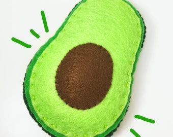 AVO'CAT'O • Organic Catnip • Funny Avocado Felt Cat Toy • Vegan Cat Gift