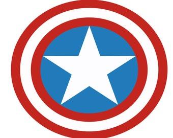 Captain America SVG digital logo, EPS, DXF, PnG, JpG
