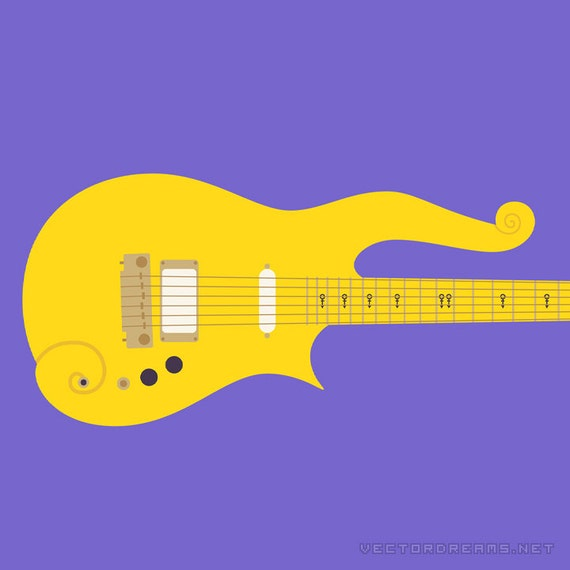 Prince Cloud guitar poster by VectorDreams on Etsy