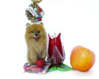 Needle Felted Pomeranian Miniature Sculpture Bagcharm Vol. 2