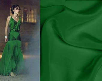 Custom Made Atonement Green Crepe 1930's Evening Gown