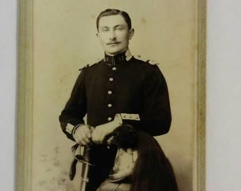 Photograph vintage 1910s. French soldier. High quality. Original document.