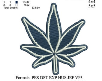 Marijuana Cannabis Leaf embroidery,Dallas Cowboys logo, embroidery Designs INSTANT download machine embroidery pattern No 506... 3 sizes: