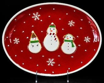 "Hallmark 15"" Snowman Serving Platter"
