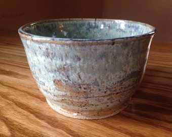 Wheel thrown, ceramic, handmade, brownstone small serving bowl