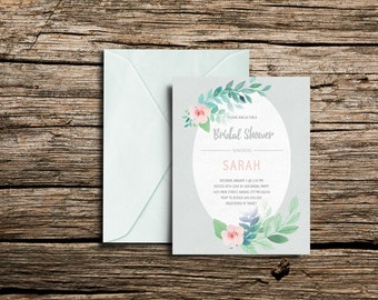 Printable Bridal Shower Invitation (5x7)
