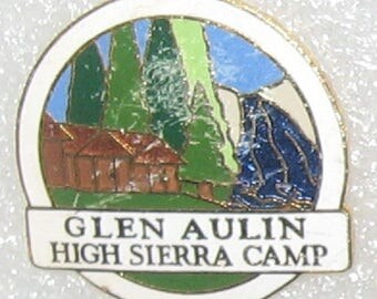 High Sierra Camp Glen Aulin cloisonne enamel hat pin lapel pin souvenir pin Yosemite