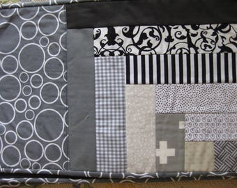 ON SALE NOW - Black and Gray Quilted Placemats