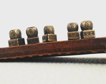 Kit 5 Beads Hair or Beard - Old Norse Spiral