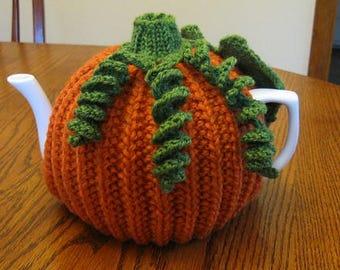 Pumpkin Tea Cozy Knitting Pattern