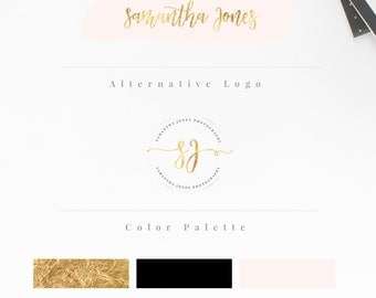 Custom logo design, Custom logo, Custom logo designer, Blog branding kit, Blog logo kit, Rose Gold brand logo, Custom Photography logo