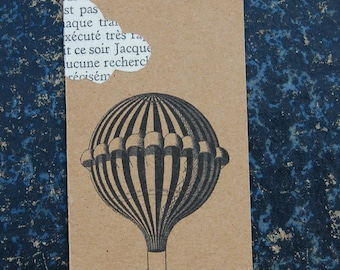 Bookmark collage clouds page old book - vintage ball - bookmark