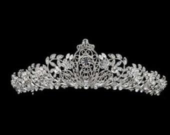 JOCELYN - Silver Clear Tiara Crown