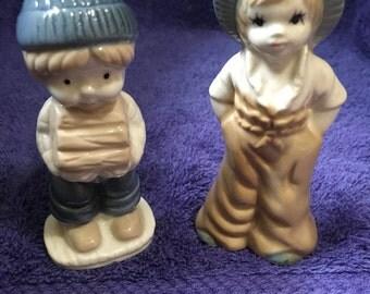 VINTAGE PORCELAIN Boy and Girl