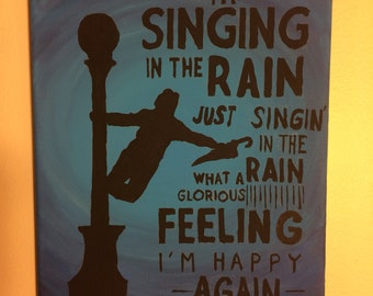 Singing in the Rain painting