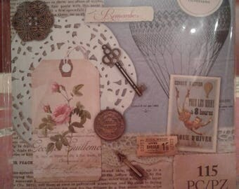 Victorian Ephemera Collage Kit by Firefly