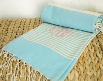 Monogrammed Turkish beach Towel,Turkish Beach Towel,Turkish Bath Towel,Turkish Towel,Bridesmaid Gifts,Wedding Favor,Beach Wedding